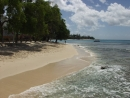 View of beach looking south at 405 Waterside, Paynes Bay, St James, Barbados