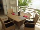 Dining on the terrace at 405 Waterside, St James, West Coast, Barbados